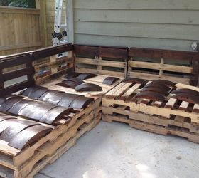 Outdoor Pallet Sectional Hometalk