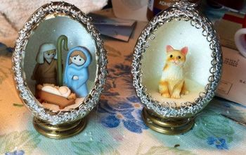 decorative christmas eggs, christmas decorations, crafts, decoupage, seasonal holiday decor, These are REAL egg shells