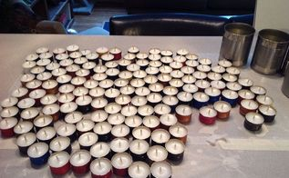 wine cap tea light candles, crafts, repurposing upcycling