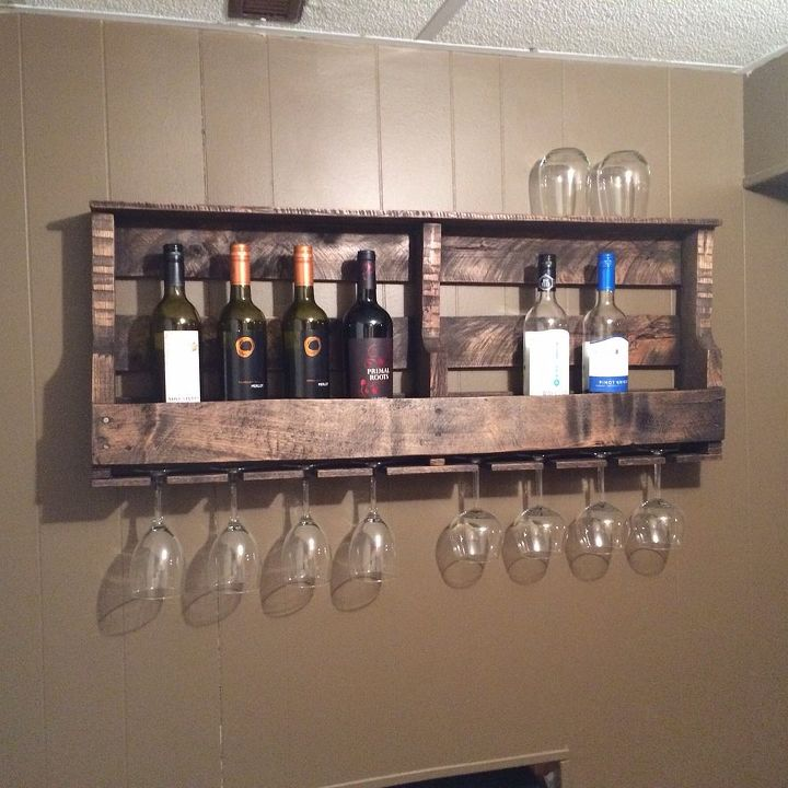 How To Make A Pallet Wine Rack Diy Wall Decor Woodworking