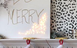 easy and cute diy christmas light up art, christmas decorations, crafts, lighting, seasonal holiday decor