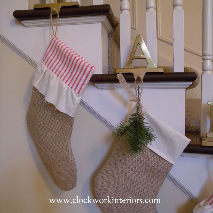 no mantel no problem hang your stockings from the staircase, christmas decorations, crafts, seasonal holiday decor, stairs