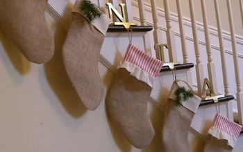 No Mantel? No Problem! Hang Your Stockings From the Staircase!