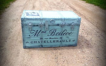trunk drunk french trunk recreation, diy, home decor, painting, repurposing upcycling, storage ideas