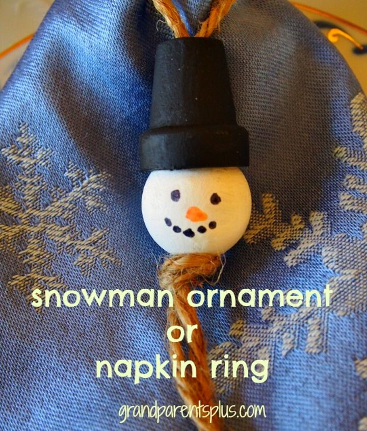 snowman ornament napkin ring or christmas favor, christmas decorations, crafts, seasonal holiday decor
