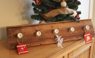 how to make a coat hanger from wood board and wiring, christmas decorations, diy, repurposing upcycling, seasonal holiday decor, woodworking projects