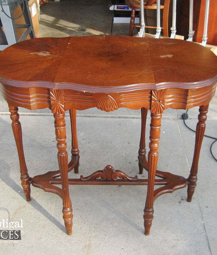 staining top of furniture piece, chalk paint, painted furniture, repurposing upcycling