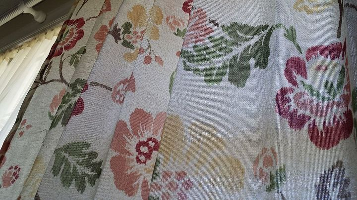 advice to add accent rug to match curtains, home decor, reupholster, window treatments