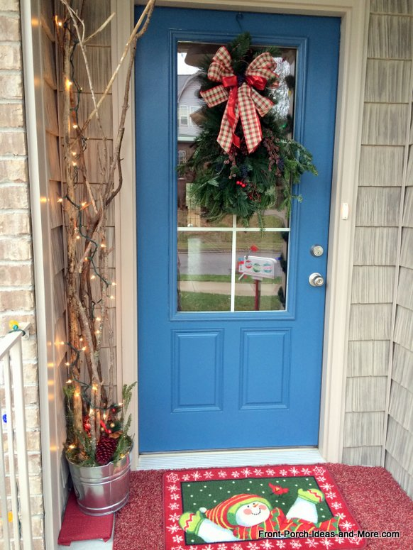 ideas for christmas front door with swag lighted branches, christmas decorations, crafts, seasonal holiday decor, wreaths