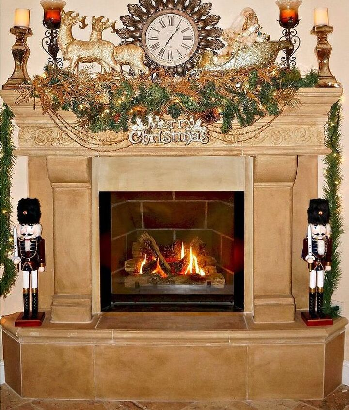 elegant christmas decor, christmas decorations, fireplaces mantels, seasonal holiday decor