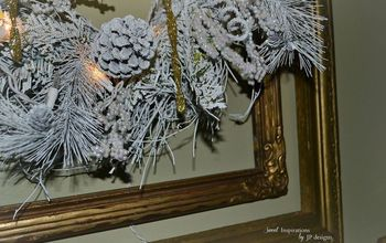 A Wreath From Ho-Hum Drab to Sparkly, White Fab-u-lousness!