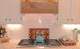 rustic range hood, diy, kitchen design, wall decor