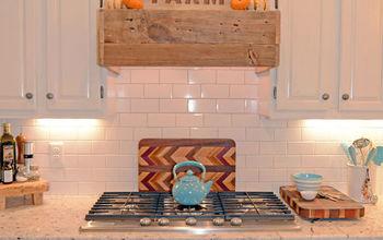 rustic range hood, diy, kitchen design, wall decor