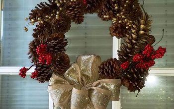 Easy Craft Ideas: Pine Cone Wreath