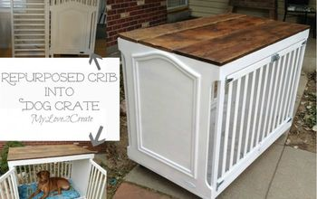 how to repurpose a crib into a dog crate, how to, painted furniture, pets animals, repurposing upcycling, woodworking projects