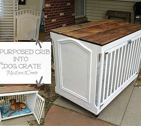 How To Repurpose A Crib Into A Dog Crate, How To, Painted Furniture,