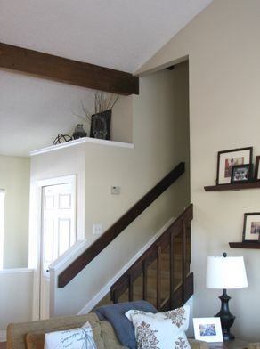 80s banister and entryway update