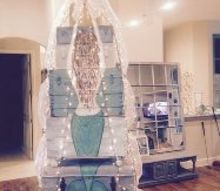 how to make a tree out of many trunks, christmas decorations, crafts, repurposing upcycling, seasonal holiday decor