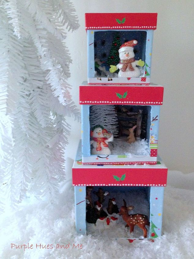 Stacking Christmas Boxes Lighted Dioramas Hometalk - Lighted Christmas Boxes