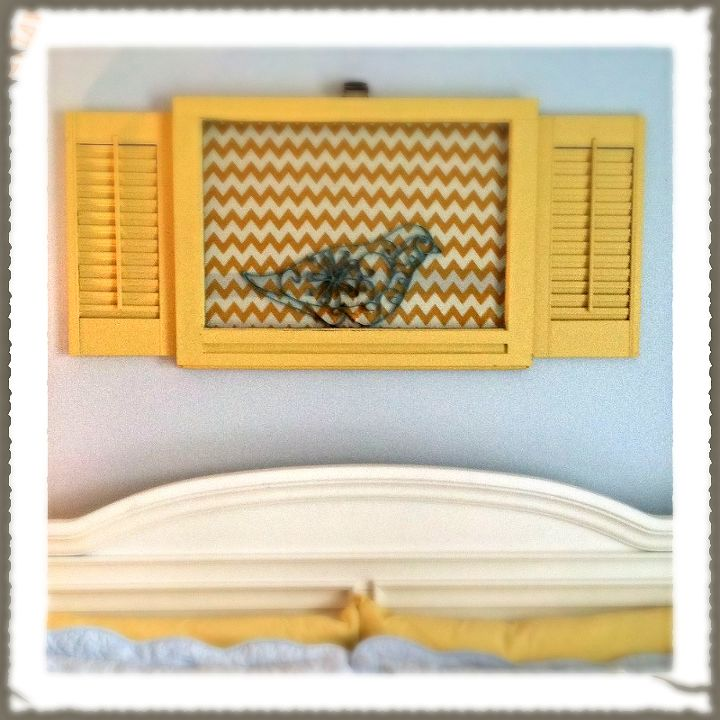How to Make Wall Decor From Old Window & Shutters | Hometalk