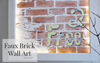 Faux Brick Wall Art - My Altered State