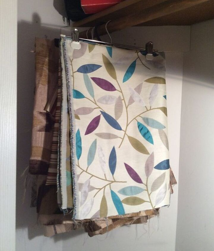 organizing and storing fabric, organizing, storage ideas, reupholster