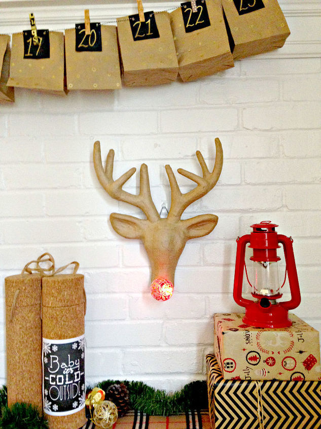 rudolph the red nosed reindeer wall mount, christmas decorations, crafts, seasonal holiday decor