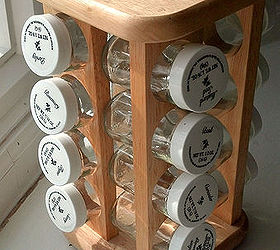 how to make a thrifted spice rack organizer organizing repurposing upcycling storage ideas