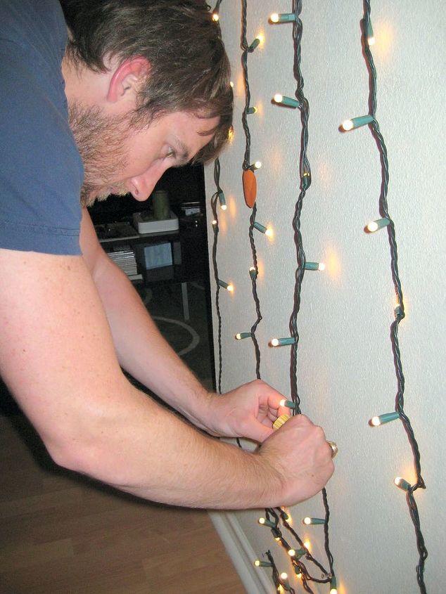 how to make modern one strand christmas tree from christmas, christmas decorations, seasonal holiday decor