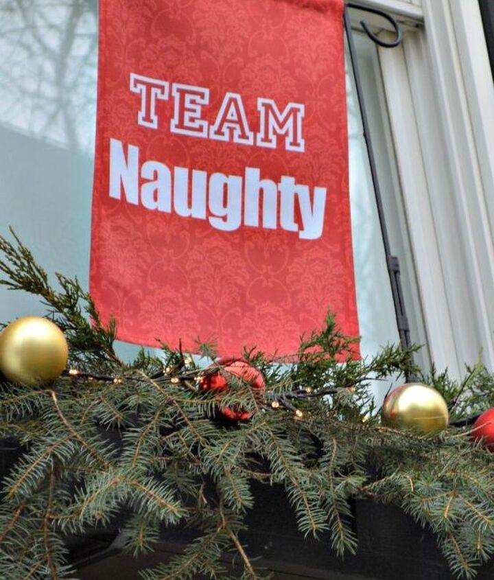 how to make naughty and nice holiday window boxes, christmas decorations, crafts, seasonal holiday decor
