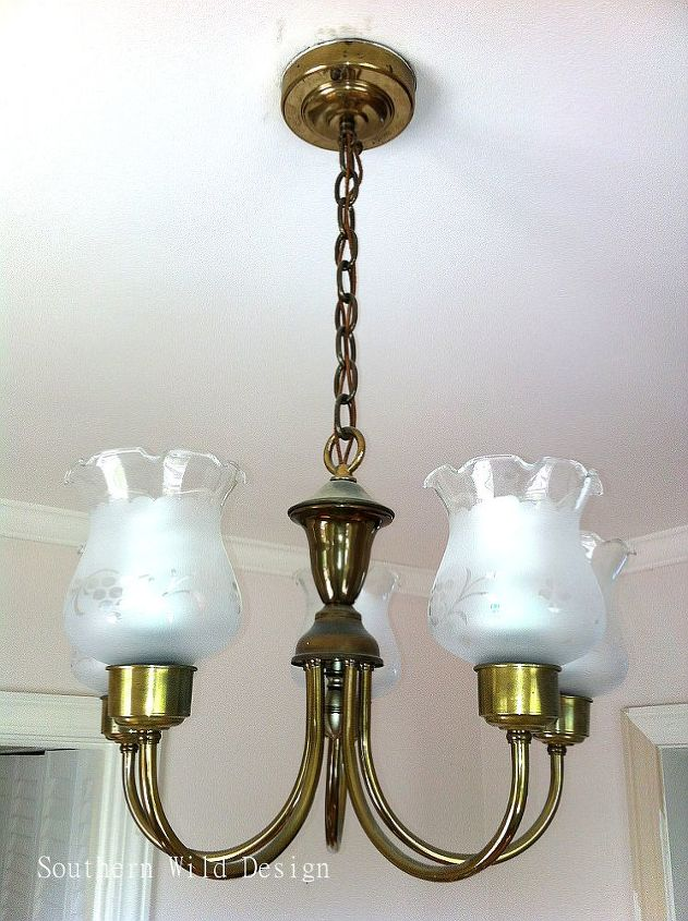 upcycle your dining room fixture, home decor, lighting, repurposing upcycling