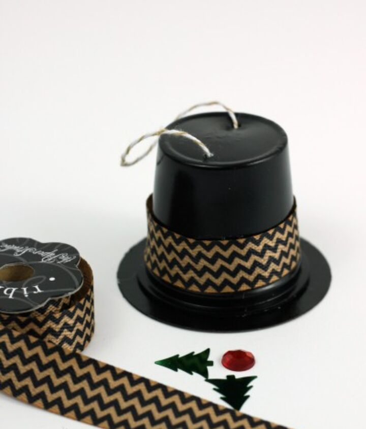 Recycled K Cup Snowman Hat Ornaments Hometalk