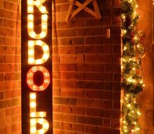 how to make a rudolph marquee sign, christmas decorations, crafts, lighting, seasonal holiday decor, woodworking projects