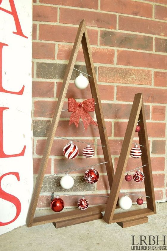 How To Make A Knock Off Crate Barrel Ornament Trees Christmas Decorations Crafts