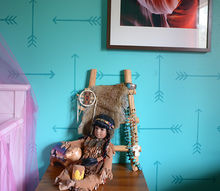 how to stencil a navajo inspired nursery, bedroom ideas, how to, painting, wall decor