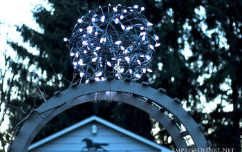 DIY Sparking Garden Orb - Use What You Have!