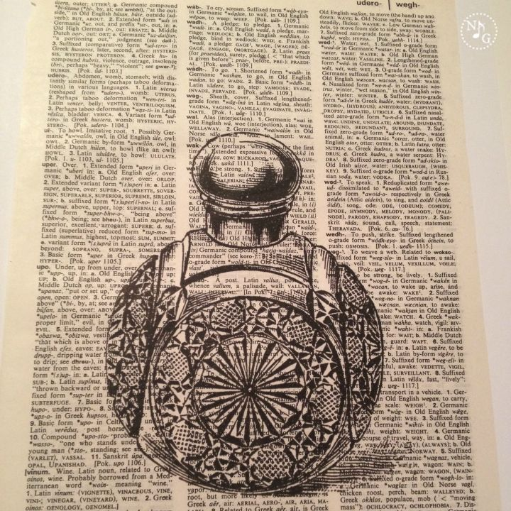 easy diy vintage printed dictionary artwork, crafts, repurposing upcycling