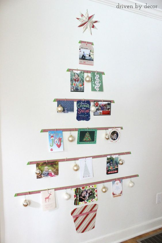 How to turn your cards into a Christmas tree display | Hometalk
