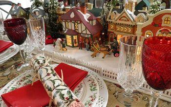 Christmas Village Copycat Tablescape