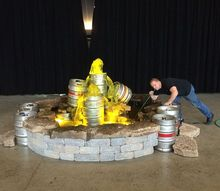 beer keg fountain, ponds water features