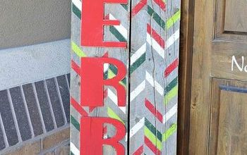 how to make an outdoor be merry christmas sign, christmas decorations, crafts, repurposing upcycling, seasonal holiday decor, woodworking projects