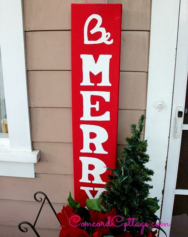 how to make a be merry painted sign, christmas decorations, crafts, painting, seasonal holiday decor