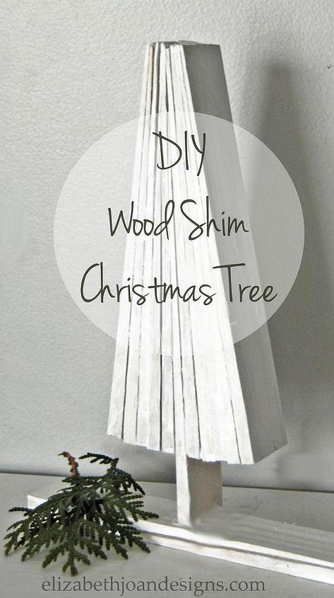 diy wood shim christmas tree, christmas decorations, crafts, seasonal holiday decor, woodworking projects