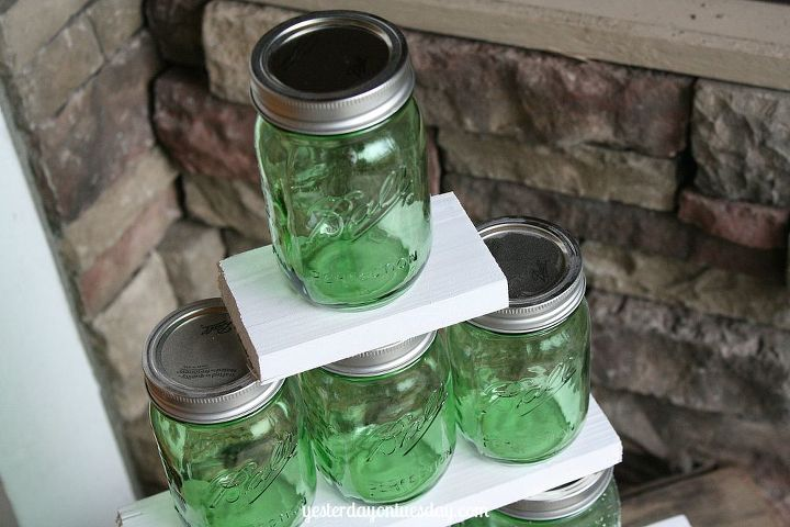 how to make a green mason jar christmas tree, christmas decorations, crafts, mason jars, repurposing upcycling, seasonal holiday decor, woodworking projects