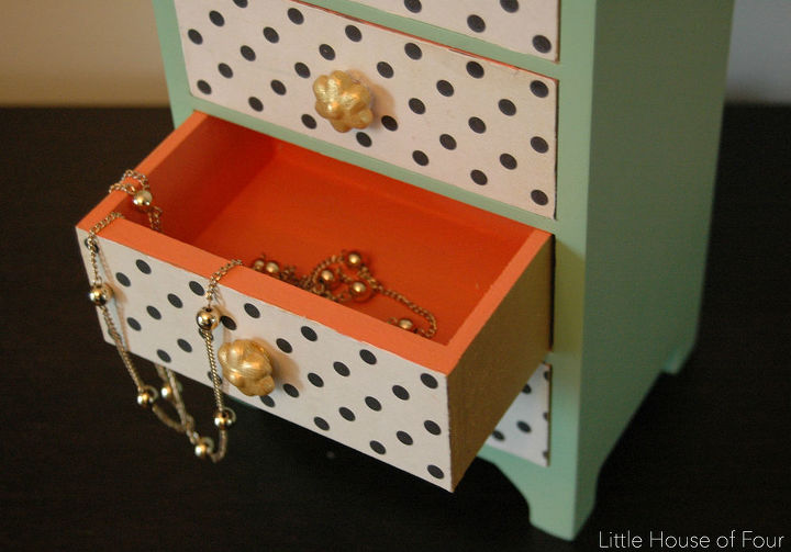 yard sale jewelry box makeover, crafts, decoupage