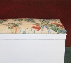 blanket chest no sew cushion topper, reupholster