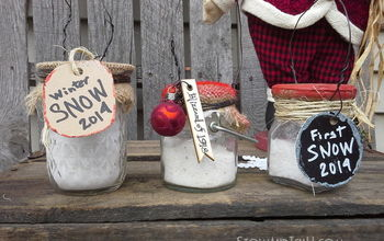 Faux Snow in a Jar Ornaments