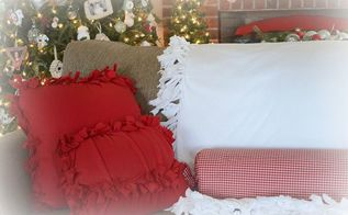 how to make tie no sew pillows and a blanket, crafts, diy, how to, reupholster