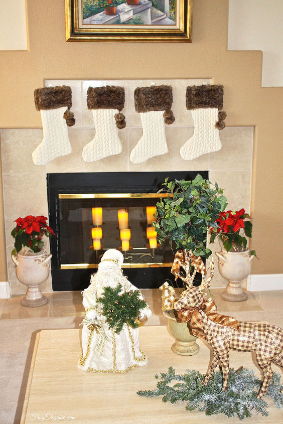 christmas home decor r by frugelegance, christmas decorations, crafts, fireplaces mantels, seasonal holiday decor, wreaths
