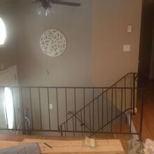 how to turn your ordinary railings into beautiful built ins, closet, organizing, painted furniture, stairs, storage ideas